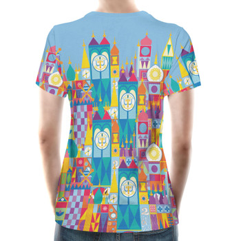 Women's Cotton Blend T-Shirt - Its A Small World Disney Parks Inspired