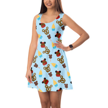 Sleeveless Flared Dress - Snack Goals Disney Parks Inspired