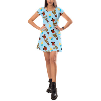 Short Sleeve Dress - Snack Goals Disney Parks Inspired