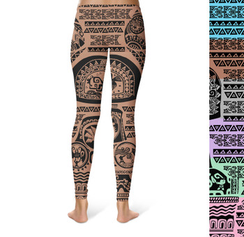 Sport Leggings - Maui Tattoos Moana Inspired