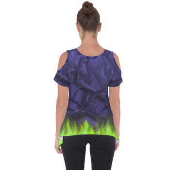 Cold Shoulder Tunic Top - Forest of Thorns Maleficent Villains Inspired