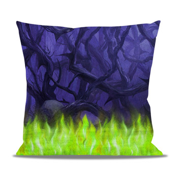Fleece Cushion - Forest of Thorns Maleficent Villains Inspired