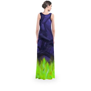 Flared Maxi Dress - Forest of Thorns Maleficent Villains Inspired