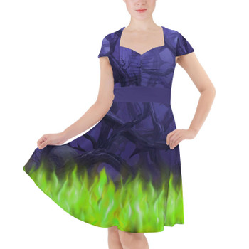 Sweetheart Midi Dress - Forest of Thorns Maleficent Villains Inspired