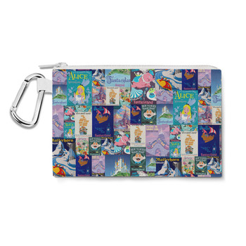 Canvas Zip Pouch - Fantasyland Vintage Attraction Posters
