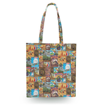 Canvas Tote Bag - Frontierland Vintage Attraction Posters