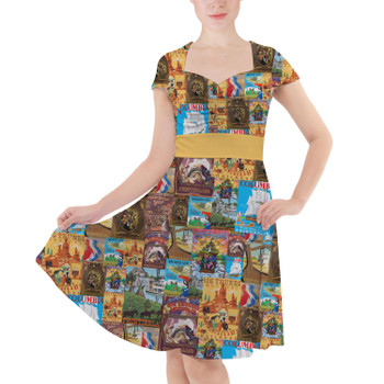 Sweetheart Midi Dress - Frontierland Vintage Attraction Posters