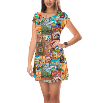 Short Sleeve Dress - Frontierland Vintage Attraction Posters