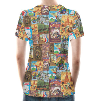 Women's Cotton Blend T-Shirt - Frontierland Vintage Attraction Posters