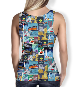 Women's Tank Top - Tomorrowland Vintage Attraction Posters