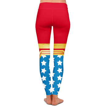 Yoga Leggings - Wonder Woman Super Hero Inspired