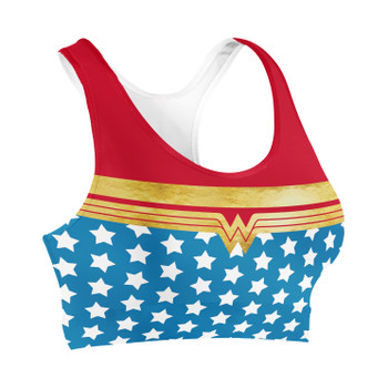 Sports Bra - Wonder Woman Super Hero Inspired