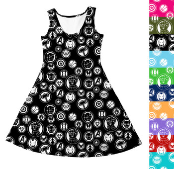 Girls Sleeveless Dress - Infinity War Superhero Inspired