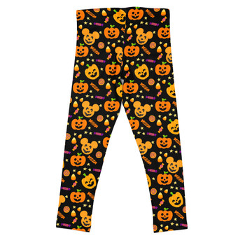 Girls' Leggings - Halloween Mickey Pumpkins