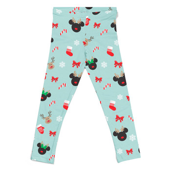 Girls' Leggings - Christmas Mickey & Minnie Reindeers