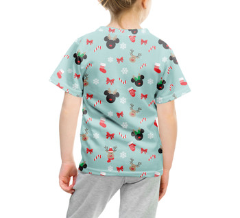 Youth Cotton Blend T-Shirt - Christmas Mickey & Minnie Reindeers