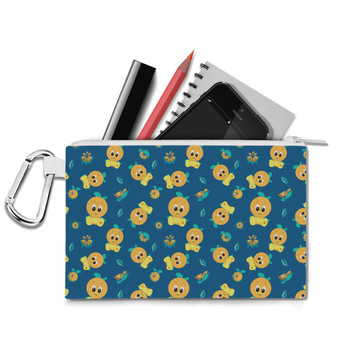 Canvas Zip Pouch - Orange Bird Disney Parks Inspired