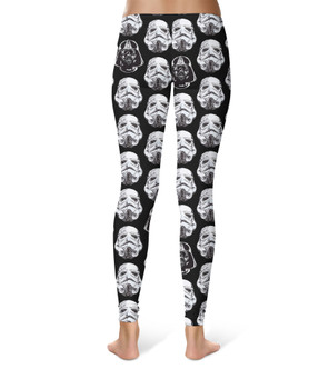 Sport Leggings - Vader & Storm Trooper Helmets SW Inspired