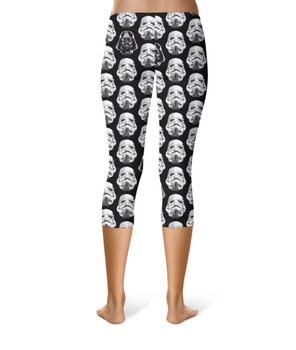 Sport Capri Leggings - Vader & Storm Trooper Helmets SW Inspired