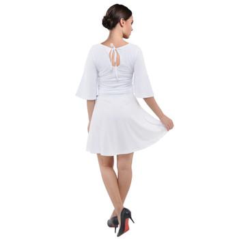 Velvet Kimono Sleeve Dress