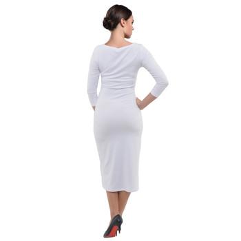 Velour Midi Bodycon Dress