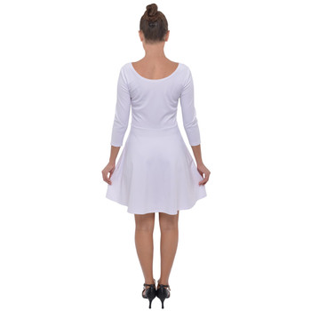 3/4 Sleeve Skater Dress