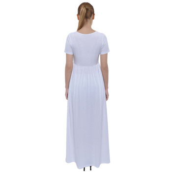 Short Sleeve High-Waist Maxi Dress