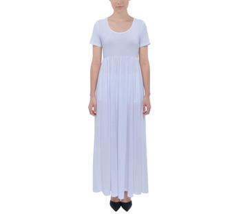 Short Sleeve High-Waist Maxi Dress