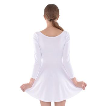 Velvet Longsleeve Skater Dress