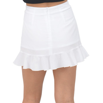 Fishtail Chiffon Mini Skirt