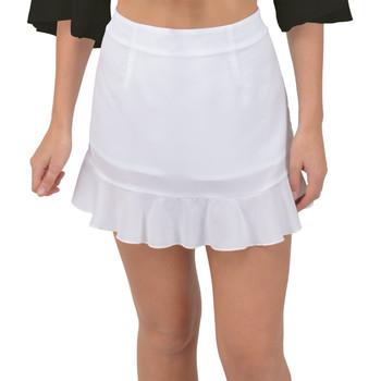 Fishtail Chiffon Mini Skirt