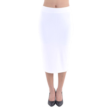 Velvet Pencil Midi Skirt