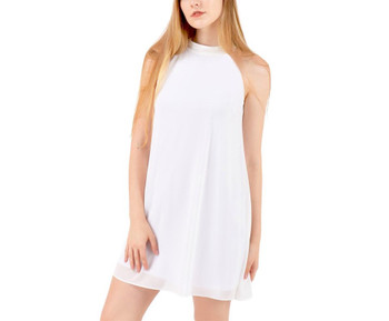 Halter Button Chiffon Dress