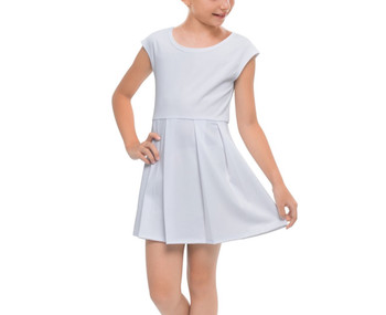 Girls Cap Sleeve Pleated Dress