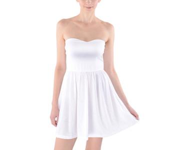 Sweetheart Strapless Skater Dress