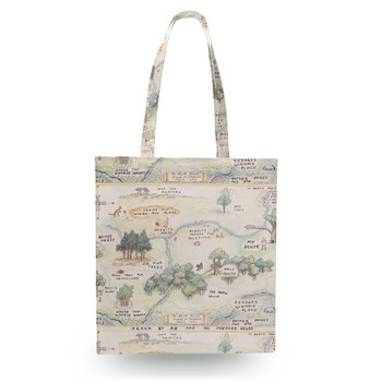 Canvas Tote Bag - Hundred Acre Wood Map Winnie The Pooh Inspired