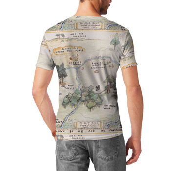 Men's Sport Mesh T-Shirt - Hundred Acre Wood Map Winnie The Pooh Inspired