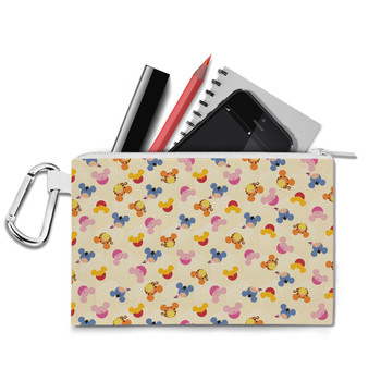 Canvas Zip Pouch - Pooh & Friends Mouse Ears