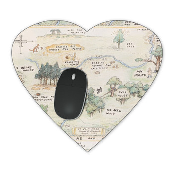 Mousepad - Hundred Acre Wood Map Winnie The Pooh Inspired