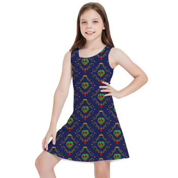 Girls Sleeveless Dress - Poison Apple Evil Queen Villains Inspired