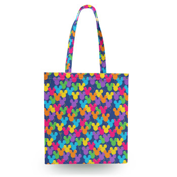 Canvas Tote Bag - Mickey Ears Balloons Disney Inspired