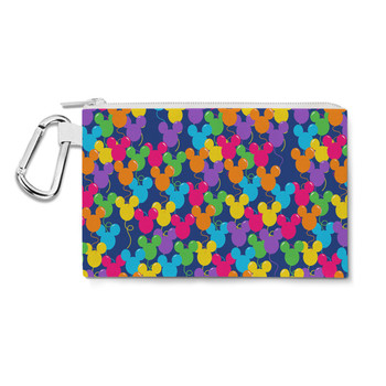 Canvas Zip Pouch - Mickey Ears Balloons Disney Inspired