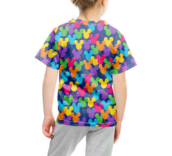 Youth Cotton Blend T-Shirt - Mickey Ears Balloons Disney Inspired