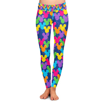 Yoga Leggings - Mickey Ears Balloons Disney Inspired