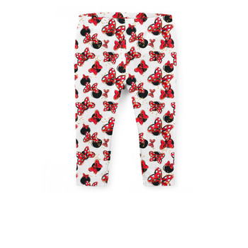 Girls' Capri Leggings - Minnie Bows and Mouse Ears