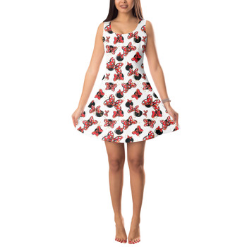 Sleeveless Flared Dress - Minnie Bows and Mouse Ears