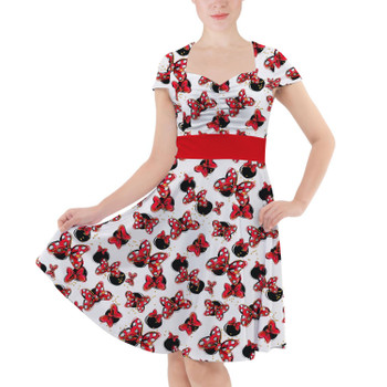 Sweetheart Midi Dress - Minnie Bows and Mouse Ears