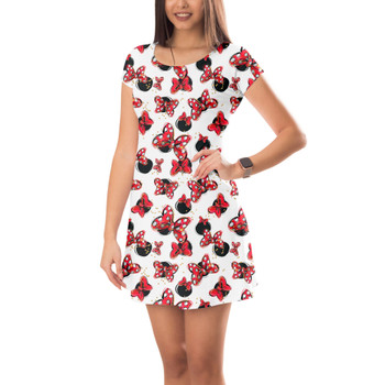 Short Sleeve Dress - Minnie Bows and Mouse Ears