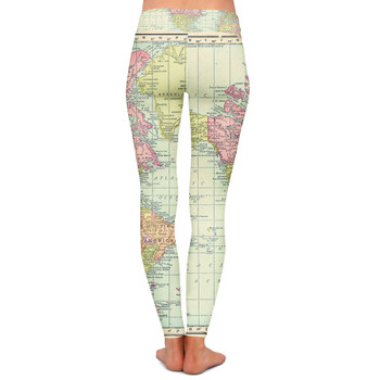 Yoga Leggings - Antique World Map 1913