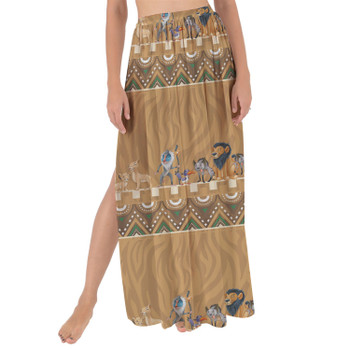 Maxi Sarong Skirt - Lion King Friends Tribal Inspired